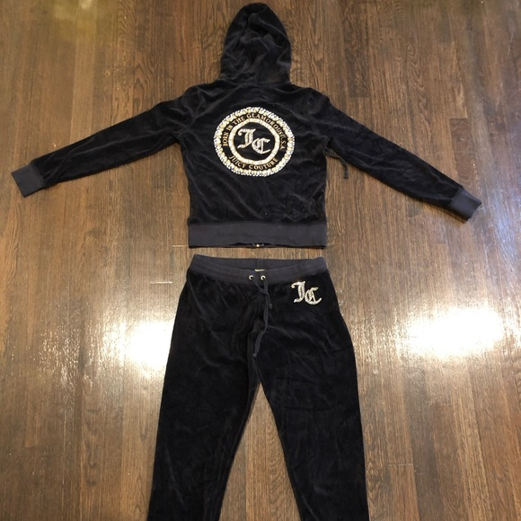 Juicy Couture Other - Fairly new Black Velour Juicy Couture Sweatsuit